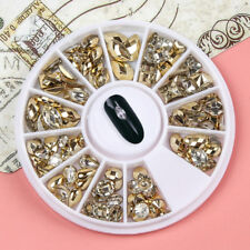 Fashion Double-sided Nail Art Rhinestone Marquise Heart Studs 3D Decoration