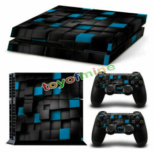 Vinyl Skin Sticker Cover Wrap Decal For PS4 Playstation 4 Console + 2 Controller