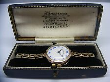 VINTAGE ROLEX 9 ct GOLD WATCH WITH PERIOD BOX circa 1920's