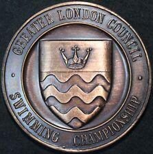 1979 | Greater London Council campeonato de natación 2nd lugar medalla | KM monedas