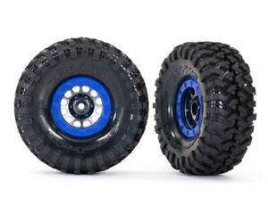 Traxxas TRX 8182 Canyon Trail 1.9 With Black Chrome Beadlock Blue Tyre TRX-4