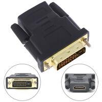 HDMI Female To Female VGA 24+1Pin DVI Male HDMI Male Adapter Connector HDTV GTF