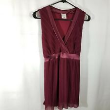 Motherhood Maternity Top Blouse Burgundy Sparkle With Satin Tie Size L Dressy