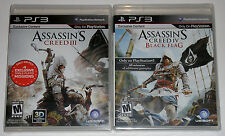 PS3 Game Lot - Assassin's Creed III (New) Assassin's Creed IV Black Flag (New)