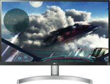 """LG - 27UL600-W 27"""" IPS LED 4K UHD FreeSync Monitor with HDR - Silver/White"""