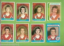 #D229. EIGHT  OLD SCANLENS  SOUTH MELBOURNE  VFL CARDS