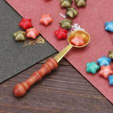 Vintage Sealing Stamp Spoon Wooden Handle Wax Melting For Card Scrapbooking Tool