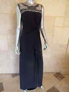 $239 PATRA Gray Matte Jersey Beaded Evening Formal Dress Gown Sz 14W NWT