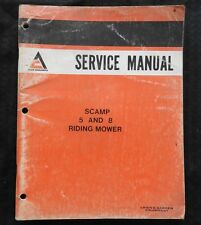 GENUINE ALLIS CHALMERS SCAMP 5 & 8 RIDING MOWER TRACTOR SERVICE MANUAL VERY GOOD
