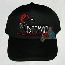 Batman Animated Series Logo Trucker Black Hat Robin Batmobile Joker Penguin