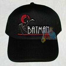 Batman Animated Series Logo Trucker Black Hat Robin Batmobile Joker Penguin