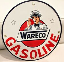 Wareco Gasoline gas oil sign. Free ship on any 8 signs