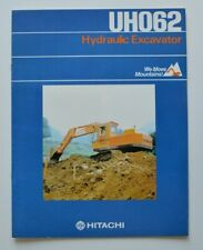 HITACHI UH062 Hydraulic Excavators 1980 dealer brochure - English - USA