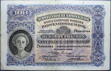 100 FRANCHI 19/7/1934 SVIZZERA