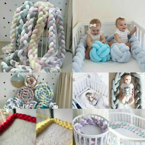 @Baby Cot Bedding Bumper Infant Crib Woven Thick Plush Protection Pad Pillow