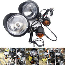 Motorcycle Universal Turn Signal Spot Light Hardward Driving Passing Lamp Amber