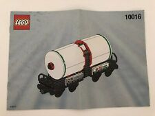 Lego 10016 Octan My Own Train Tanker Instruction Manual ONLY  No LEGOS