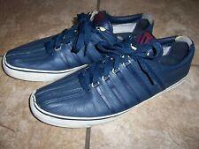 Men's Classic Navy Blue K-Swiss Shoes Size 11 , *(Material Peeling near Tongue)