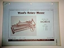 Woods Mo80 6 Rotary Mower Cutter Operators Owners Parts Manual Catalog 1 62