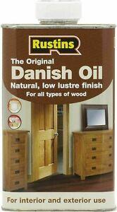 Rustins Original Wood Furniture Worktop Danish Oil 250ML / 500ml / 1L  ALL TYPES