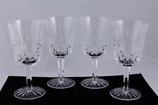 WATERFORD CRYSTAL LISMORE WATER GOBLETS - SET OF 4