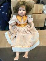 Künstlerpuppe Porzellan Puppe 80 cm. Top Zustand.