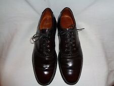 J&M ARISTOCRAFT  MEN'S BURGUNDY LEATHER OXFORD US 10.5 MADE IN USA.