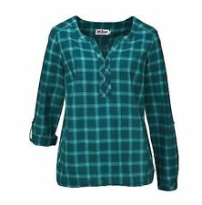 Karierte Damenblusen, - tops & -shirts im Blusen aus Baumwolle