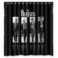 """Custom New The Beatles 12 holes to which rings attach Shower Curtain 66"""" x 72"""""""