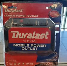 1000 watt Duralast Moble Power Outlet with 2000 peak watts 12v battery use only
