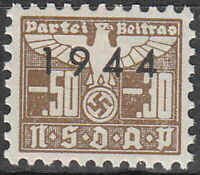 Stamp Germany Revenue WWII 1944 3rd Reich War Era Party Dues 005.30 MNH