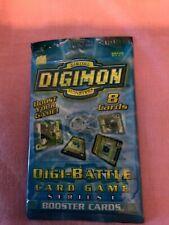 DIGIMON MONSTERS 8 CARD BOOSTER PACK SEALED 2000 UK SELLER