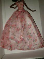 Barbie doll BIRTHDAY WISHES Pink ROSE PRINT MODEL DRESS