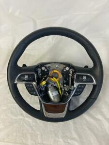 OEM 2017 2018 2019 Lincoln Continental Black Leather Steering Wheel with Control