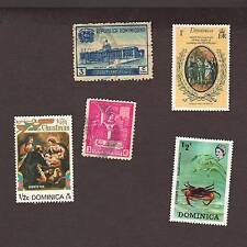 5 Vintage postage stamps loose world/foreign DOMINICA