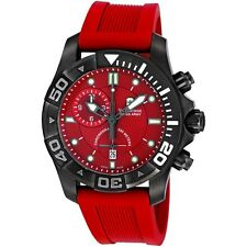 VICTORINOX SWISS ARMY 241422 AUTOMATIC MENS WATCH DIVE MASTER 500 RED DIAL 43MM