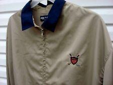 Polo Ralph Lauren Windbreaker Golf Jacket Men's XL Khaki zip front