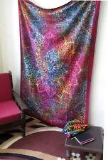Malty Hippie Indian Twin Tie Dye tapestry wall hanging home decor Blue mandela