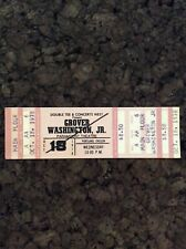 Grover Washington Jr 1978 Unused Concert Ticket Portland Oregon Paramount