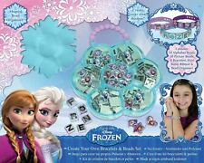 108 PCS DISNEY FROZEN MAKE YOUR OWN BRACELET BEAD MAKING SET KIDS CREATIVE DFR8