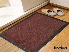 CHOCOLATE BROWN Heavy duty kitchen BARRIER DOOR MAT NON-SLIP RUBBER 80x140