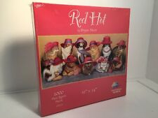NEW Red Hat Cat Puzzle Red Hot 1000 Piece Jigsaw Puzzle Bryan Moon