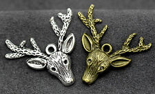 Tibetan silver charm fashion pendan deer  Jewelry accessories gift 4G