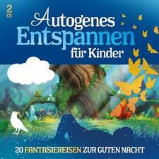 AUTOGENES ENTSPANNEN FÜR KINDER - 20 Fantasiereisen zur Guten Nacht 2 CD / NEU!!
