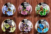 10pcs exquisite handmade Lampwork glass beads flower round 20mm