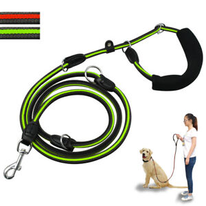 Hands Free Dog Leash Strong Rope Long Pet Walking Leads 7.5ft Multifunction