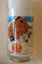 1977 LK Restaurant & Motel collector's glass Summer from Pierre The Bear Series