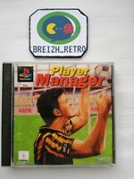 😍JEU SONY PLAYSTATION 1 PS1 PLAYER MANAGER FOOT COMPLET NOTICE PAL😍