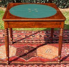 Ancienne Table de Jeux 1920-30 avec revêtement en Cuir