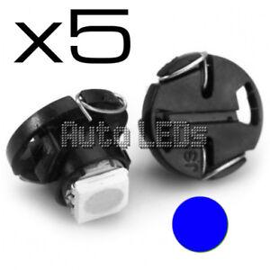 5 Blue SMD LED T4.7 Neo Wedge 12v Interior LED Bulb